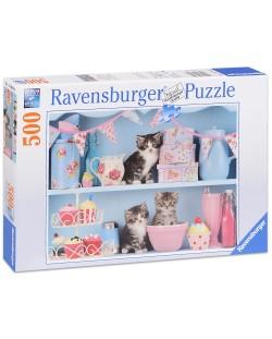 Пъзел Ravensburger от 500 части - Котенца и кексчета