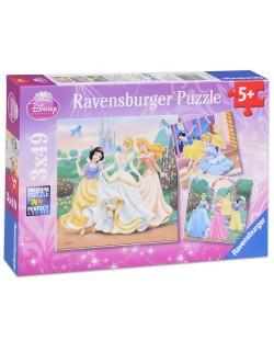 Пъзели Ravensburger 3 от 49 части - Забавление с Дисни Принцеси