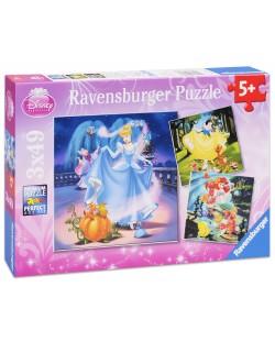 Пъзели Ravensburger 3 от 49 части - Принцесите на Дисни