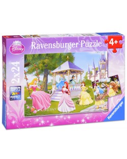 Пъзел Ravensburger от 2 х 24 части - Дисни принцеси
