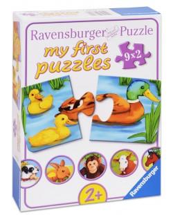 Пъзели Ravensburger 9 х 2 части - Животинчета
