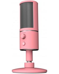 Микрофон Razer Seirēn X - Quartz, розов