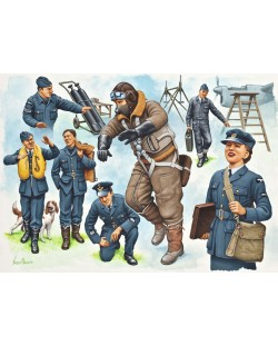 Фигури Revell - Pilots & Ground Crew Royal Air Force WWII (02620)