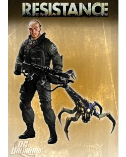Resistance Series 1 Action Figure Nathan Hale with Swarmer 18 cm