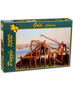 Пъзел Gold Puzzle от 1000 части - Рибарите въвеждат улова