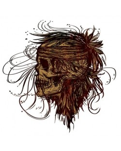 Тениска RockaCoca SkullFlower, бяла, размер M