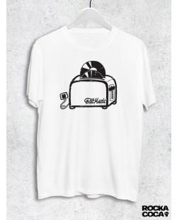 Тениска RockaCoca Toaster, бяла, размер M
