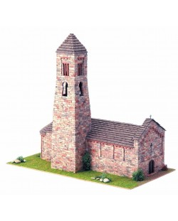 Сглобяем модел Domus Kits - Романика 3, Църква St. Climent Coll de Nargó, Макет с истински тухли