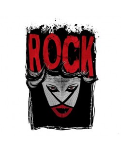Тениска RockaCoca Rock, бяла, размер S