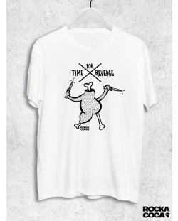 Тениска RockaCoca Revenge, бяла, размер S