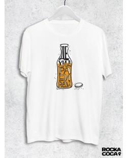 Тениска RockaCoca Дехидрабиран- Бутилка, бяла, размер M