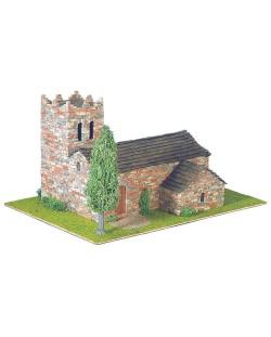 Сглобяем модел Domus Kits - Романика 11, Църква St. Martí Vell, Макет с истински тухли
