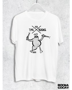 Тениска RockaCoca Revenge, бяла, размер L