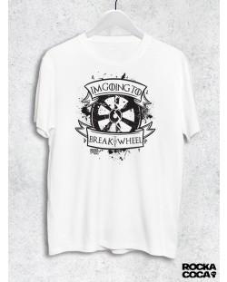 Тениска RockaCoca The Wheel, бяла, размер M