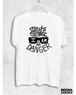 Тениска RockaCoca The Danger, бяла, размер S