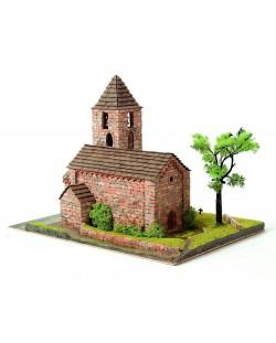 Сглобяем модел Domus Kits - Романика 21, Църква Sta Maria de Coll, Макет с истински тухли