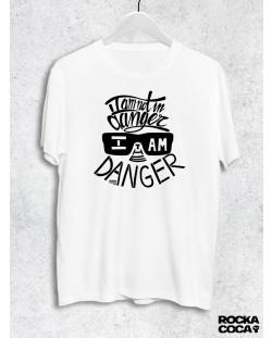 Тениска RockaCoca The Danger, бяла, размер XL