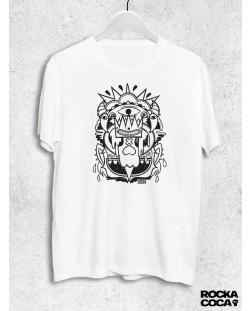 Тениска RockaCoca Skull King, бяла, размер S
