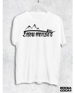 Тениска RockaCoca Snow Monster, бяла, размер L