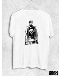 Тениска RockaCoca Punisher, бяла, размер M