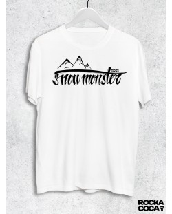 Тениска RockaCoca Snow Monster, бяла, размер XL