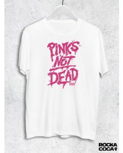 Тениска RockaCoca Pink's not dead, бяла, размер S