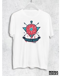 Тениска RockaCoca Hipster Donut, бяла, размер L