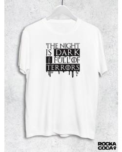 Тениска RockaCoca The Night, бяла, размер XL