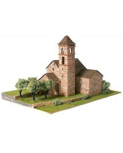 Сглобяем модел Domus Kits - Романика 24, Църква St. Feliu de Barruera, Макет с истински тухли
