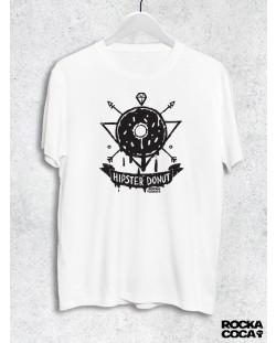 Тениска RockaCoca Hipster Donut, черна/бяла размер L