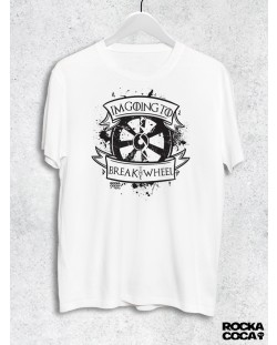 Тениска RockaCoca The Wheel, бяла, размер L