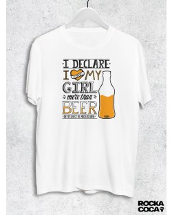 Тениска RockaCoca More than beer, бяла, размер XL