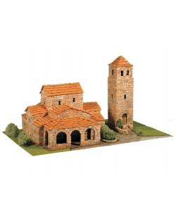 Сглобяем модел Domus Kits - Романика 16, Църква Sta Maria de Lebeña, Макет с истински тухли