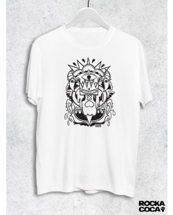 Тениска RockaCoca Skull King, бяла, размер L