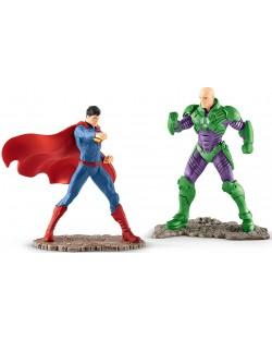 """Комплект фигурки Schleich от серията """"Лигата на справедливостта""""  - Супермен срещу Лекс Лутор"""