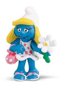 """Фигурка Schleich от серията """"Смърфовете – забавни фигурки"""": Смърфиета с цвете"""
