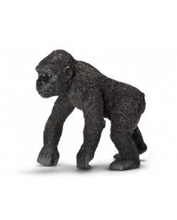 Фигурка Schleich от серията Дивия живот - Африка: Горила - бебе