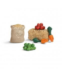 Фигурка Schleich от серията Аксесоари към Животни във фермата: Комплект - храна за животни - голям