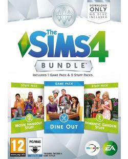 The Sims 4 Bundle Pack 5 - Dine Out, Movie Hangout Stuff, Romantic Garden Stuff (PC)