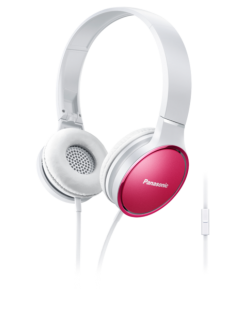 Слушалки с микрофон Panasonic RP-HF300ME-P - розови