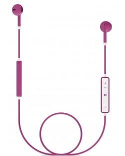 Слушалки с микрофон Energy Sistem - Earphones 1, розови