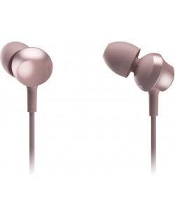 Слушалки с микрофон Panasonic RP-TCM360E-P - in-ear, розови