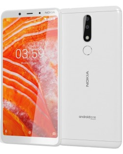 "Смартфон Nokia 3.1 Plus DS - 6"", 16GB, бял"