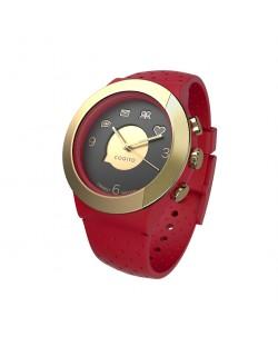 Смарт часовник Cogito Fit - червен/златист