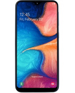 "Смартфон Samsung Galaxy A20e - 5.8"", 32GB, син"