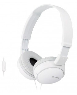 Слушалки Sony MDR-ZX110AP - бели