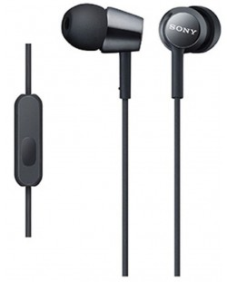 Слушалки Sony MDR-EX155AP - черни