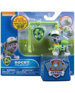 Детска играчка Spin Master Paw Patrol - Pull Back Pup, Роки