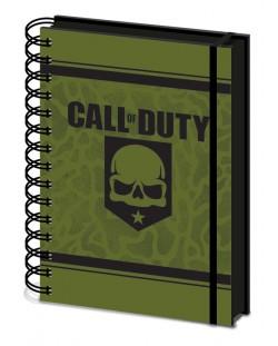 Тефтер Pyramid A5 - Call of Duty (Skull), със спирала