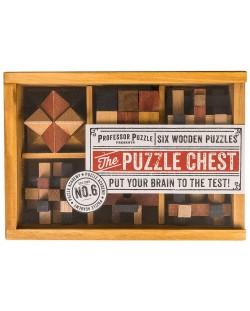 Комплект логически пъзели Professor Puzzle – Chest, 6 броя